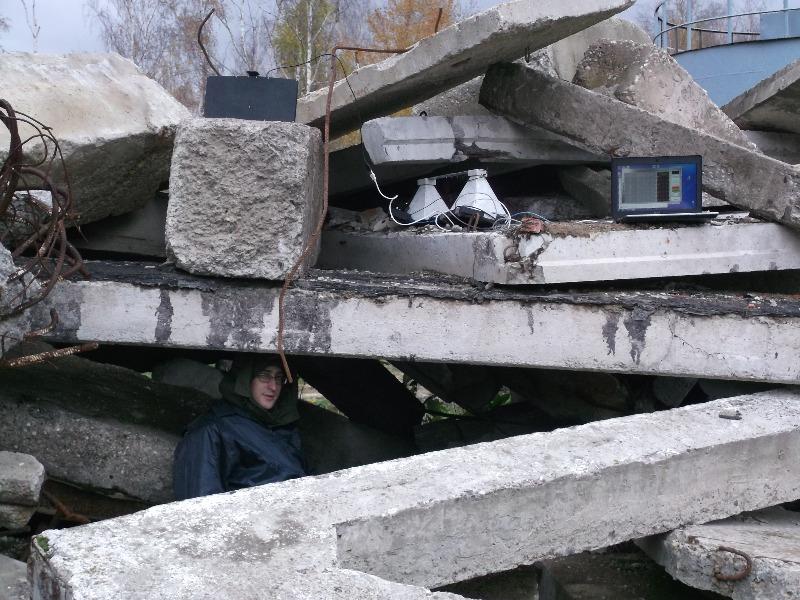 Обнаружение человека под завалом