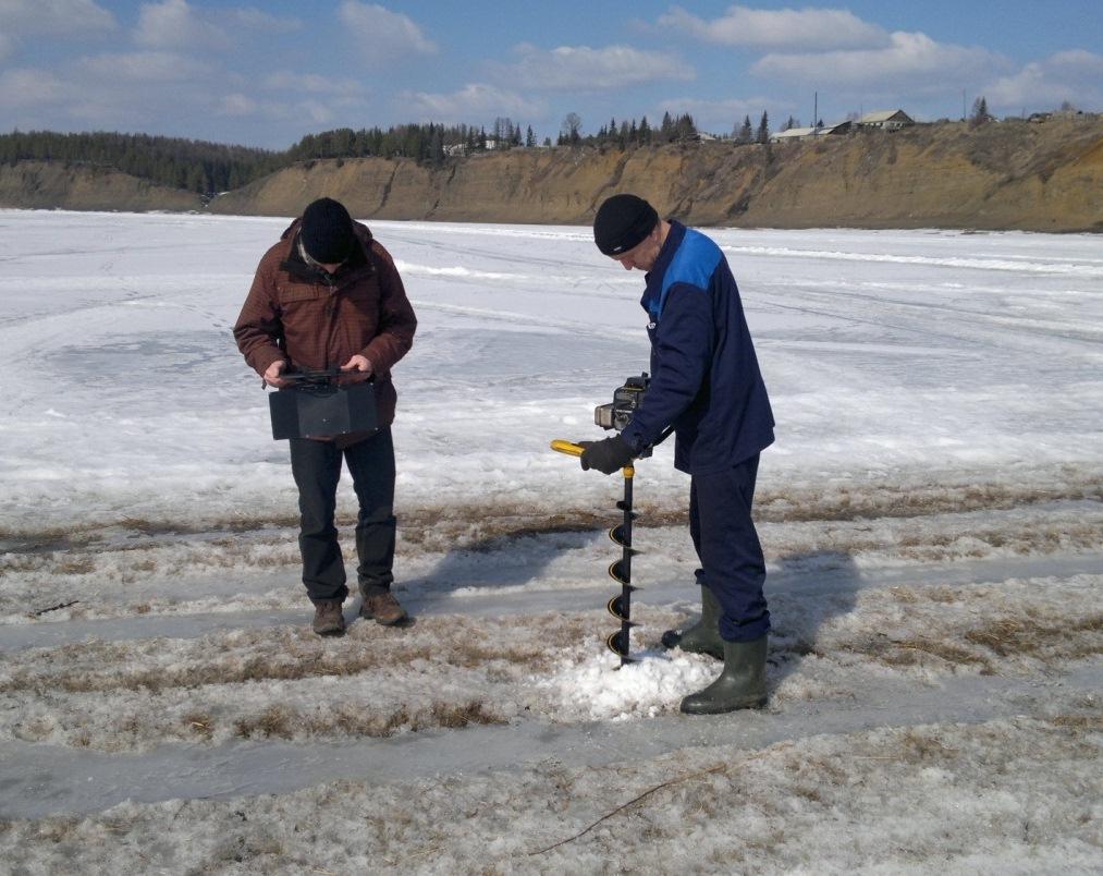 Испытания прибора Пикор-Лёд 2М на ледовой переправе