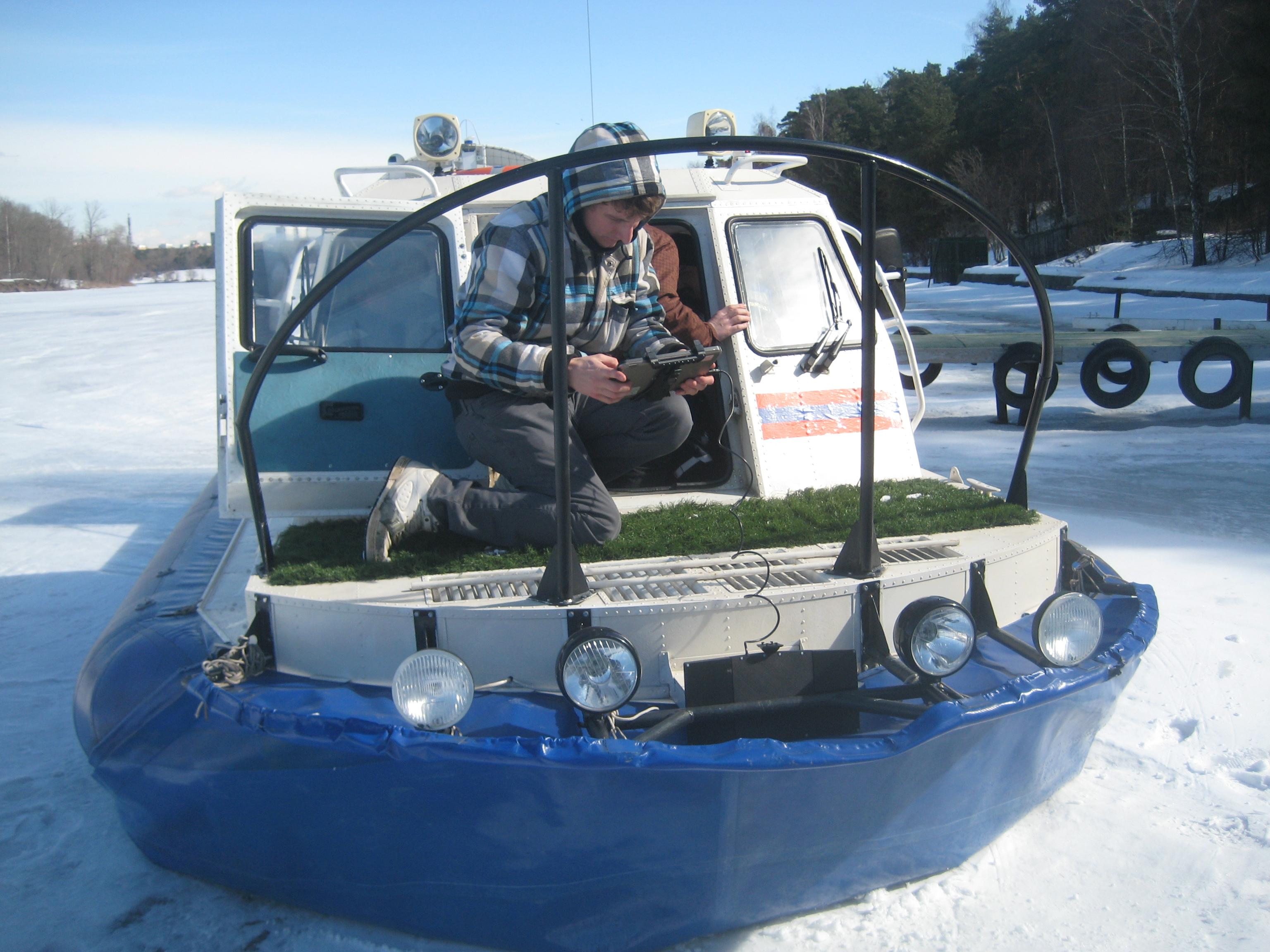 Измерения Пикор-Лёд2М на судне с воздушной подушкой