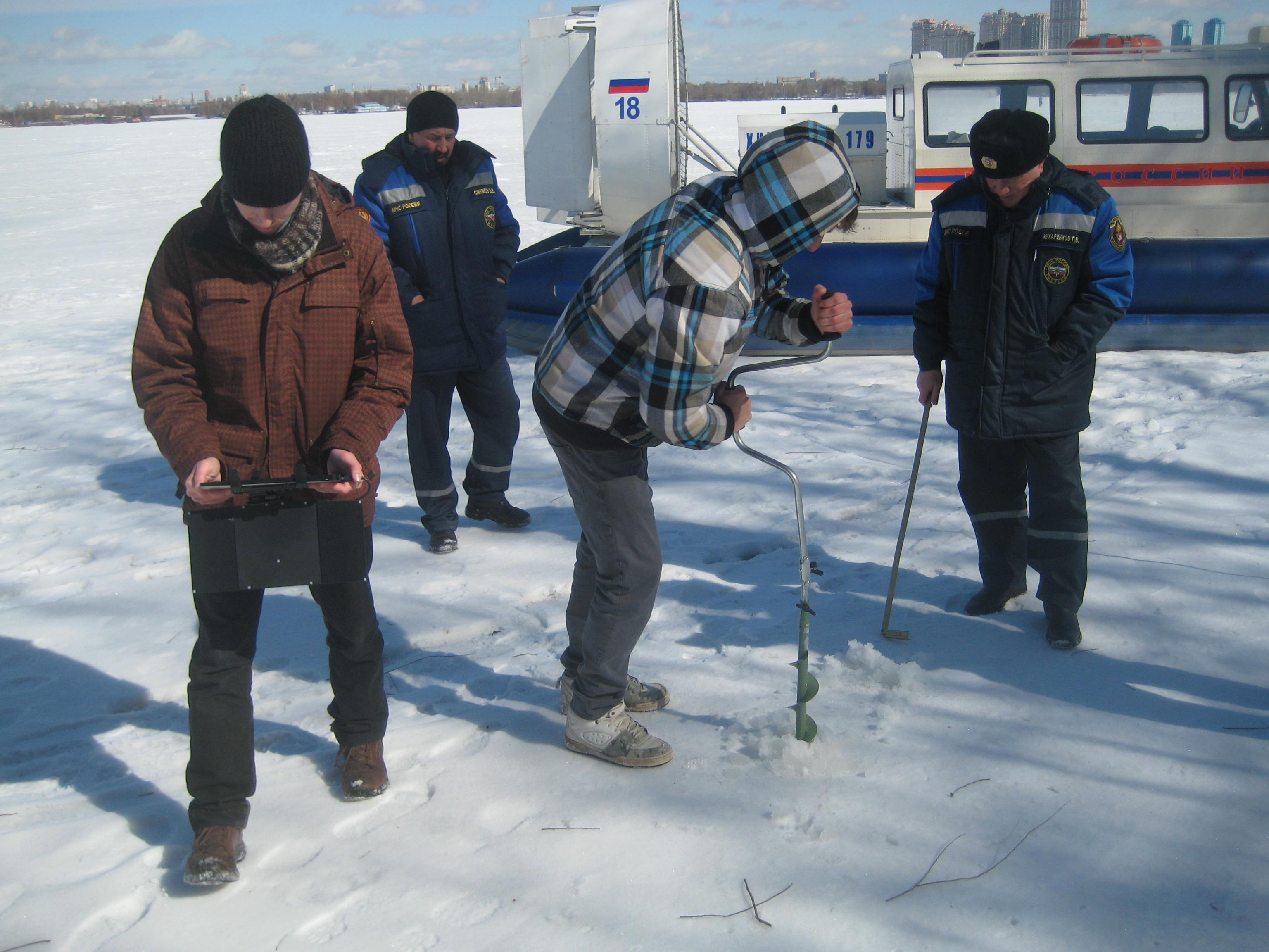 Пикор-Лёд 2М измеритель толщины льда испытания